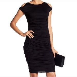 Bailey 44 Black midi dress NWT